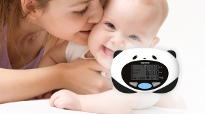 Mother and baby and a kid-use blood pressure monitor