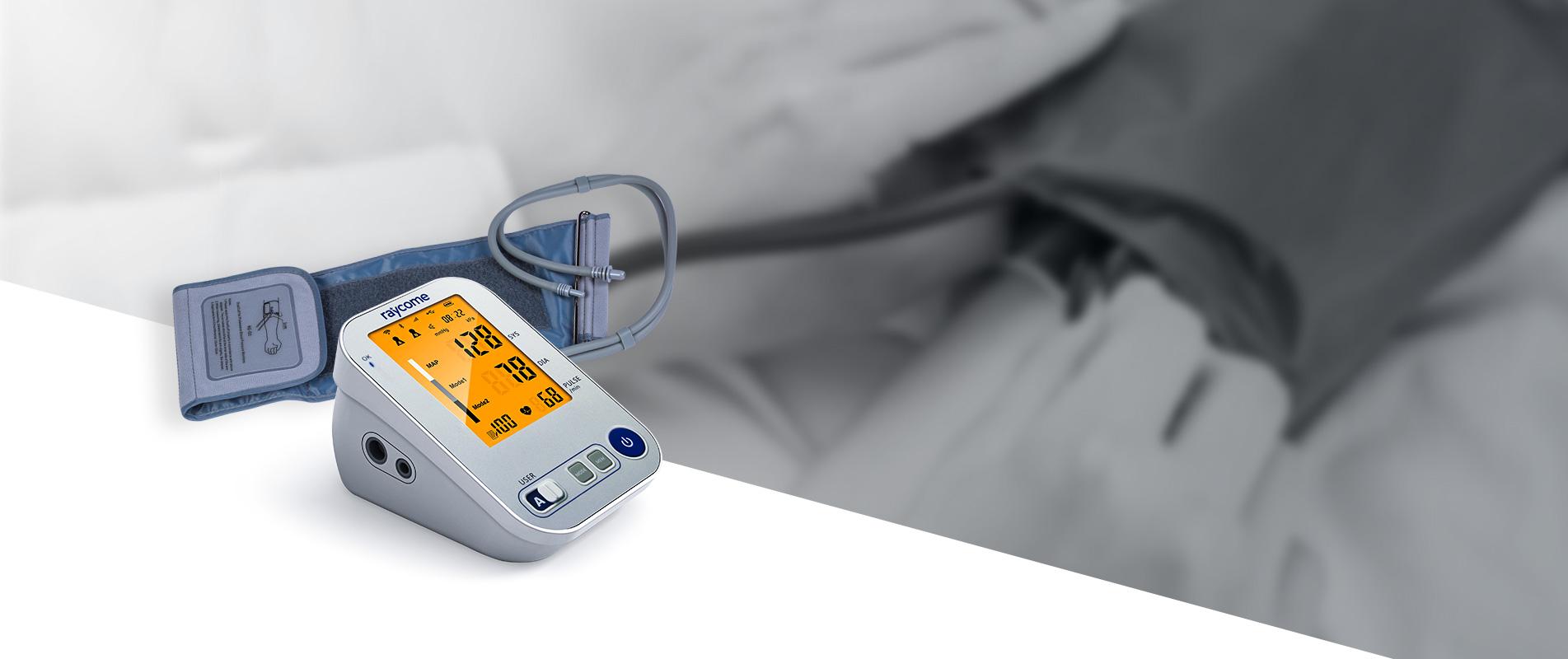 A Raycome blood pressure monitor