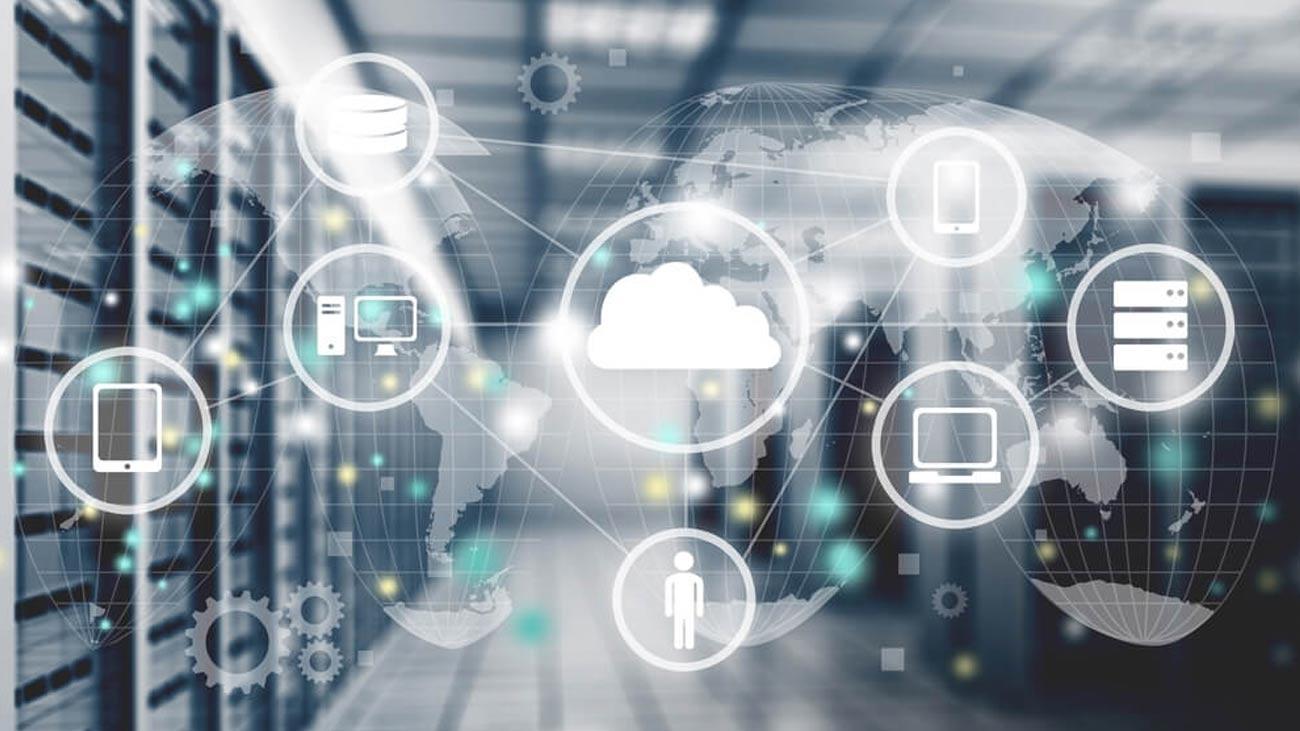 Smart devices connected via cloud.
