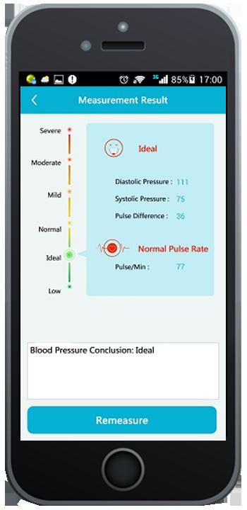 The BP secretary app on smart phone