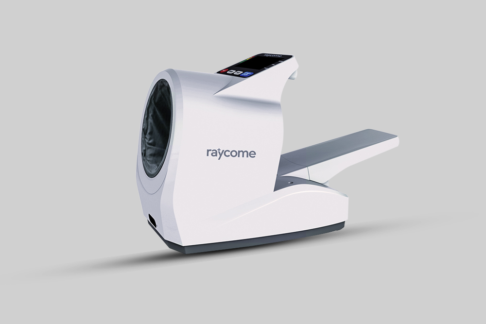 A Raycome hospital-use blood pressure monitor