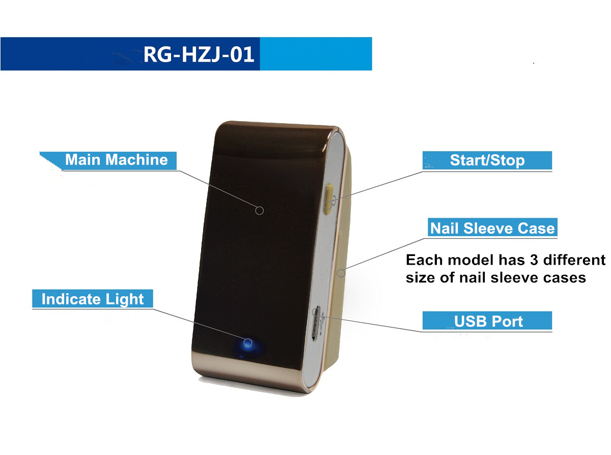 A Raycome nail fungus laser device and its parts