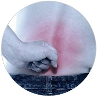 Back suffering from backpain