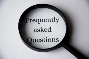 A Frequently Asked Questions Banner