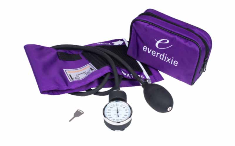 Dixie-EMS-Purple-Deluxe -Aneroid-Sphygmomanometer-Blood-Pressure-Set